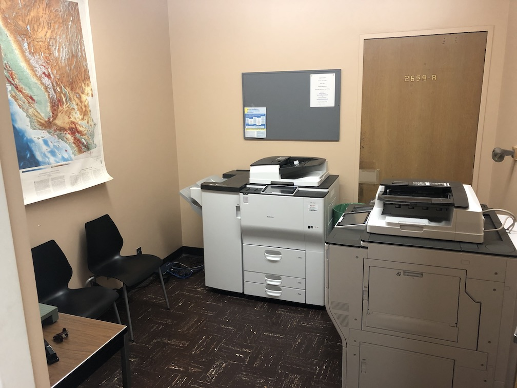 Photo of copy room in geology